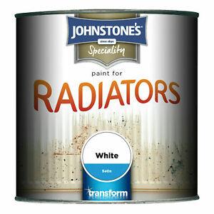 Johnstones Radiator Paint 750ml - White Satin