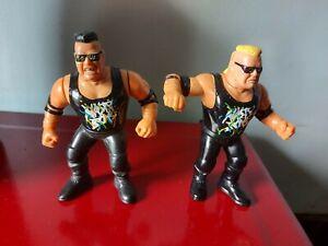 WCW WWF WWE THE NASTY BOYS WRESTLING FIGURES BY HASBRO