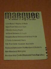 Marquee Club October 1978 Flyer (Vibrators/Cortinas/Chelsea/Rezillos/Drones)