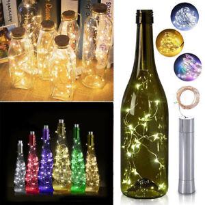 5Pcs Copper LED Warm White String Fairy Night Lights Wine Bottle Lamp Xmas Decor