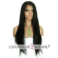 """Pre Plucked 360 Frontal Wig Human Hair Yaki Straight 360 Lace Wigs for Women 22"""""""