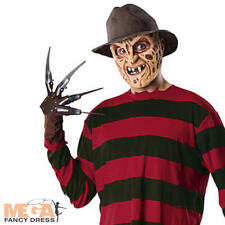 Freddy Krueger Men's Fancy Dress Halloween Horror Costume Adult Outfit + Mask