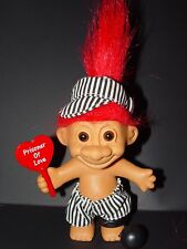 """Troll Doll 4 1/2"""" Russ Valentine's Day / Anniversary Prison of Love Red Hair"""