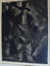 "Jules Schyl 1893-1977, ""Spanische Musikanten"", Radierung Probeabzug,datiert 1951"