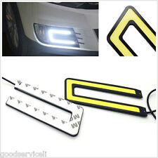 6W COB Light Daytime Running Driving Light DRL Headlight Fog Lamp 6000K U Shape