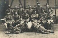 WWI GERMAN ARMY SOLDIERS MILITARY REAL PHOTO POSTCARD