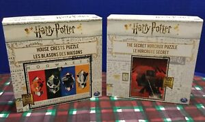 2 New Buffalo Harry Potter House Crests & The Secret Horcrux 300 Pc. Puzzles