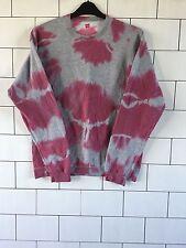 Unisex Urban Vintage Retro Dip Dye Festival De Lavado ácido Sudadera Suéter M #2