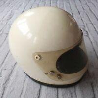 Vintage Bell Star Full Face Motorcycle Helmet White Racing Star Flip Model FC-15