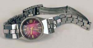 VINTAGE LADIES SEIKO AUTOMATIC HI-BEAT WATCH FACETED CRYSTAL PINK DIAL 2205-0679