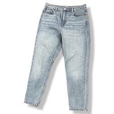 TOPSHOP Light Blue Stonewash High Waist Mom Jeans 100% Cotton W32 L27 Size 14