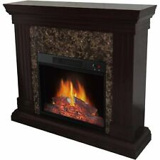 """Electric Flame Fireplace Heater Living Room Bedroom Adjustable with 44"""" Mantle !"""