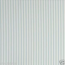 CLARKE and CLARKE 100% COTTON CURTAIN FABRIC/CRAFT PARTY STRIPE Mineral p/m