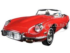 1971 JAGUAR E TYPE RED 1/18 DIECAST MODEL CAR BY ROAD SIGNATURE 92608