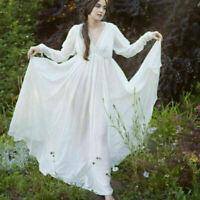 Medieval Vintage Gauze Dress Women Vintage Long Dress Party Palace Hot