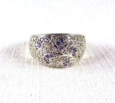 2.00ct Purple & White Cubic Zirconia 925 Sterling Silver Ring US (9) AU (R 3/4)