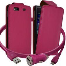 Housse Coque Etui pour Samsung Wave 3 + Chargeur Auto Couleur Rose