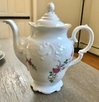 Wawel Poland China Rose Garden Coffee /Tea Pot, Sugar Bowl With Lid and Creamer