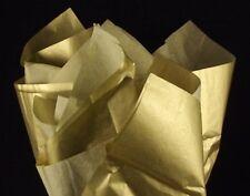 124~METALLIC GOLD TISSUE PAPER~GIFT WRAP~20x30~124 PREMIUM SHEETS~BULK TISSUE