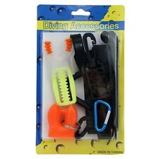 Save-A-Dive Kit - Mouthpiece Mask Fins Strap Keeper Octopus Holder Hose Clip