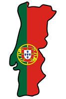 """Auto Aufkleber PORTUGAL 1Decal Sticker 11cm (4.3"""") konturg. die-cut"""