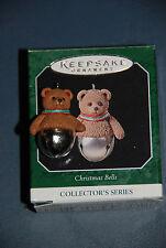 Hallmark Miniature Ornament -- Christmas Bells -- 4th in Series -- Teddy Bear 98