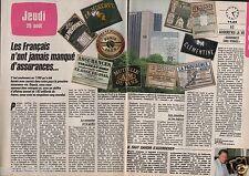 Coupure de presse Clipping 1985 Les Français ont des assurances (2 pages)