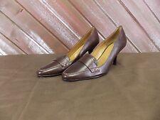 Anne Klein Shoes Leather Heels Work Stylish Brown 7.5 M