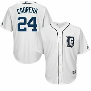 Detroit Tigers MLB Mens Cool Base Miguel Cabrera White Jersey Size 3XL