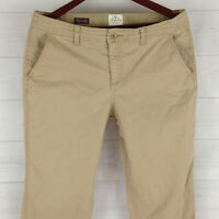 St. John's Bay Womens Size 12 Stretch Solid Beige Flap Straight Corduroy Pants