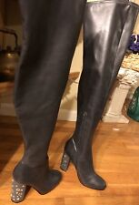 Badgley Mischka American Glamour Over The Knee Tall Glove Fit Heel Boots Sz 5.5