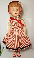"Dee an Cee D C 1950's Brunette Soft Stuffed Vinyl Body Wire Frame Doll 16"" Summe"