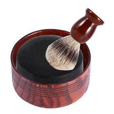 Male's Shaving Badger Hair Brush+Shaving Soap Shave Tool Kit+Wood Bowl Mug Cup