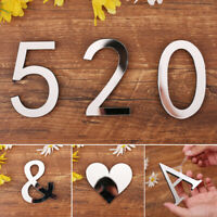 New 3D Numerals Acrylic Mirror Wall Stickers Self-adhesive Poster Home Decor