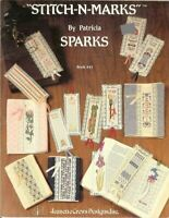 STITCH-N-MARKS BY PATRICIA SPARKS - CROSS STITCH BOOKMARK LEAFLET