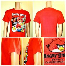 """ANGRY BIRDS"" Boys/Youth Red T-Shirt Short Sleeve Graphic Tee 14/16"