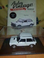 AUTOBIANCHI a112 ABARTH 3 PORTE BIANCO 1979 con socket e vetrina 1//24 modellc...