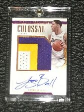 Lonzo Ball ROOKIE National Treasures 2017-18 AUTO Bronze /25 Colossal 3 cl PATCH