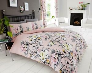 KING SIZE 5'  PINK Floral Duvet Cover + Pillowcases (NADIA)