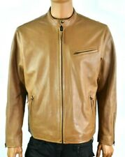 Polo Ralph Lauren Mens Leather Jacket New XL Brown Soft Sheep Leather $650