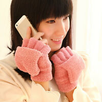 Women's Lady Winter Thermal Insulated Fleece Gloves 5colors hot