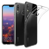 Huawei P20 Lite Thin Silicone Clear Case Cover Ultra Slim Shockproof Gel Back