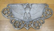 Old Eagle with Stars Decorative Art US Post Office Metal Architectural Hardware