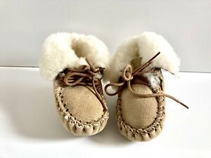 Infant Baby Sheep Skin The Sheepskin Booties/Moccasins