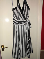 BNWT Womens M&S Fully Lined Halter Neck Dress In Size 16 RRP £79