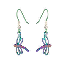 Titanium 13mm Dragonfly Drop Earrings