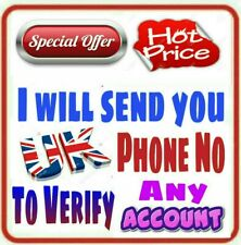 UK Phone Number to Verify Any Account