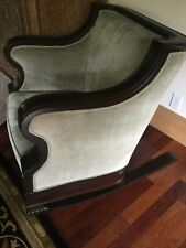 Empire Club Chairs mint condition one rocker/ one stationery ant velvet