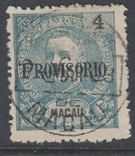 Macao :1902 Provisorio opt on 4a blue- green Sg169 used