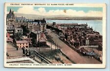 Quebec City, Basse-Ville, Canada - EARLY 1900s AEIRIAL VIEW - POSTCARD - G4